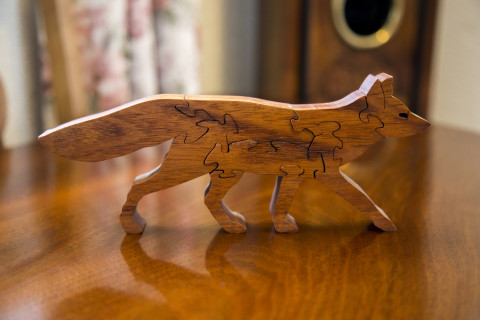 Fox jigsaw ornament
